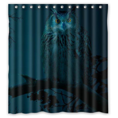 Greendecor Funny Owl At Night Animal Bird Waterproof