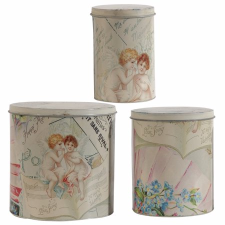 Printed Decorative Tin Boxes - Set of 3 - Decorative Tins