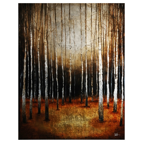 Ren-Wil In the Shadows by St. Germain Original Painting on Wrapped Canvas