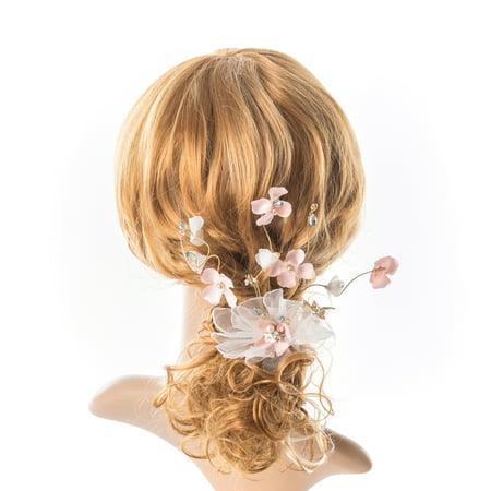 Bridal Hair Accessory Wedding Headpiece For Bride Pearl Crystal Hair Piece Bridal Long Hair-Vine Wedding Hair Accessory (Bride Headpiece)