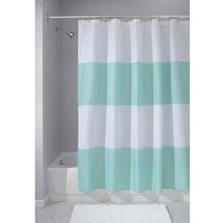 InterDesign Zeno Fabric Shower Curtain Standard 72 X Blue White