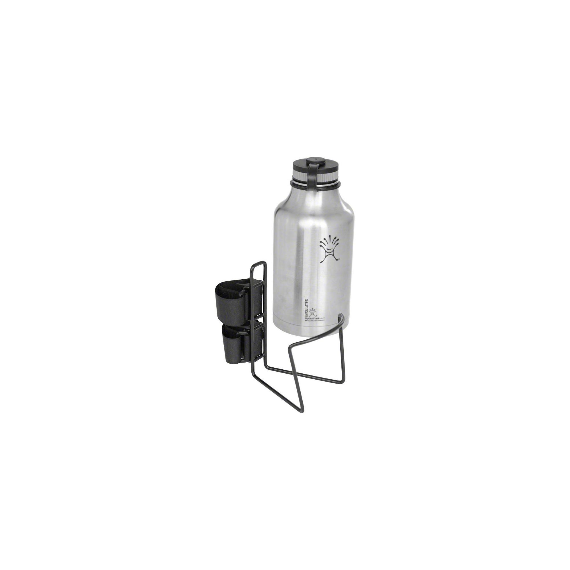 "TwoFish Growler QuickCage 64oz Water Bottle Cage: 5.0"" Bottle Vinyl Coated Black"