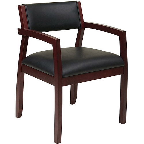 Office Star Napa Leather Back Guest Chair