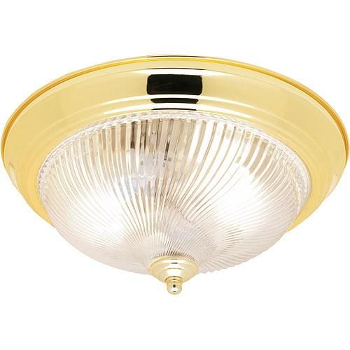 "Hampton 13"" Whipped Flushmount, Indoor Lighting, Polished Brass"