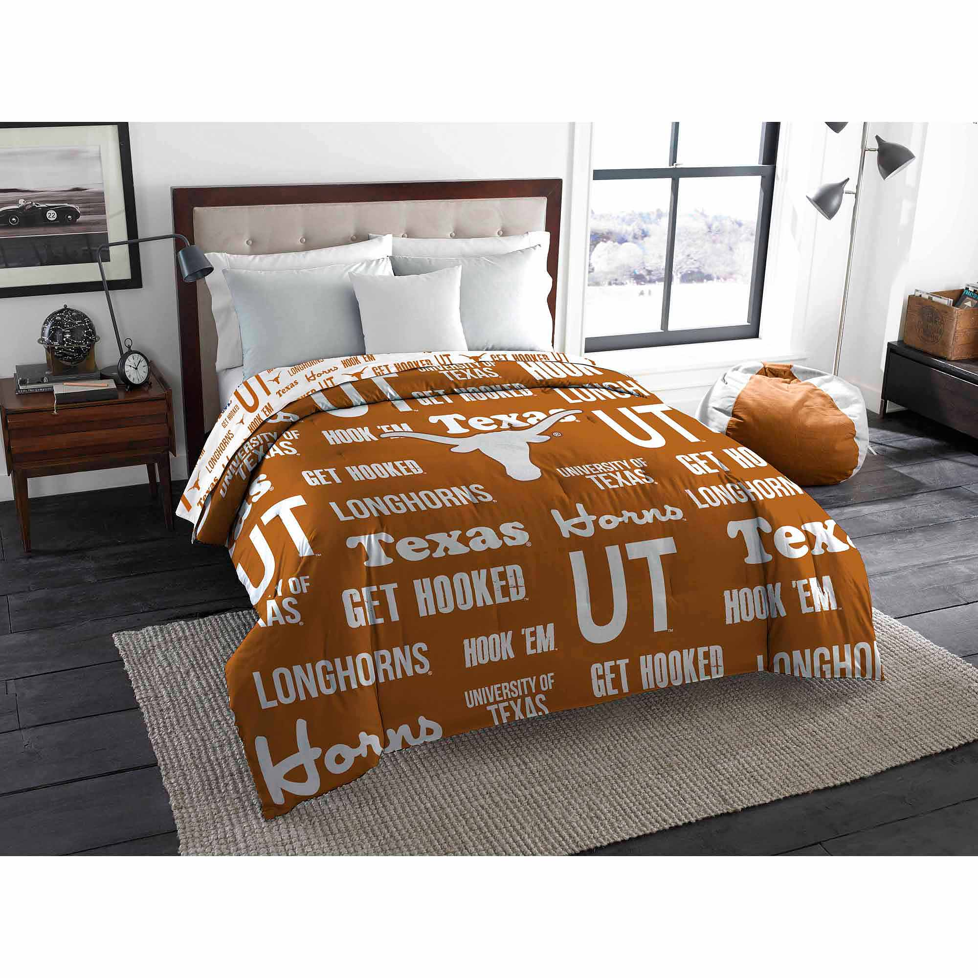NCAA Texas Longhorns Twin/Full Bedding Comforter
