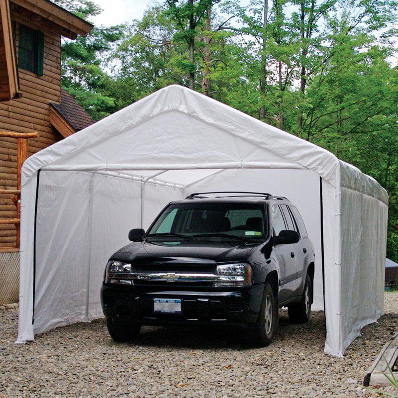 Super Max 12' x 20' White Canopy Enclosure Kit by ShelterLogic