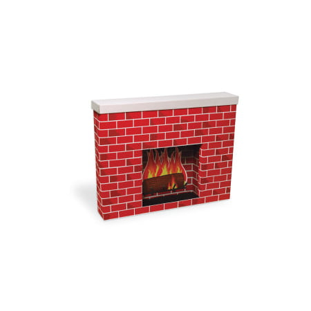 Corobuff Corrugated Paper Red Fireplace, 7