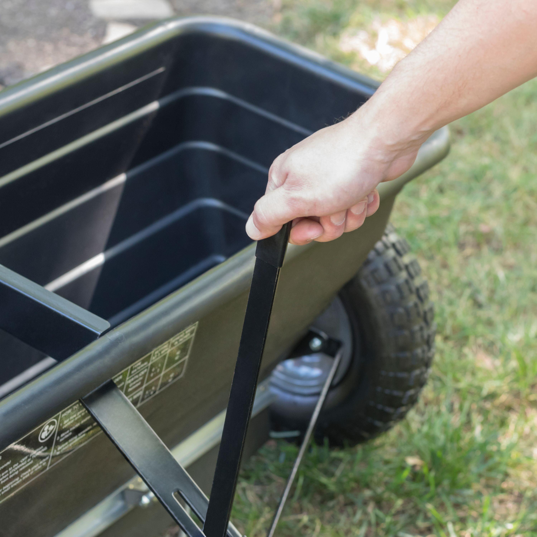 """42/"""" Spread Width Drop Fertilize Feed Tow Behind Spreader Patio Garden 175 lb"""