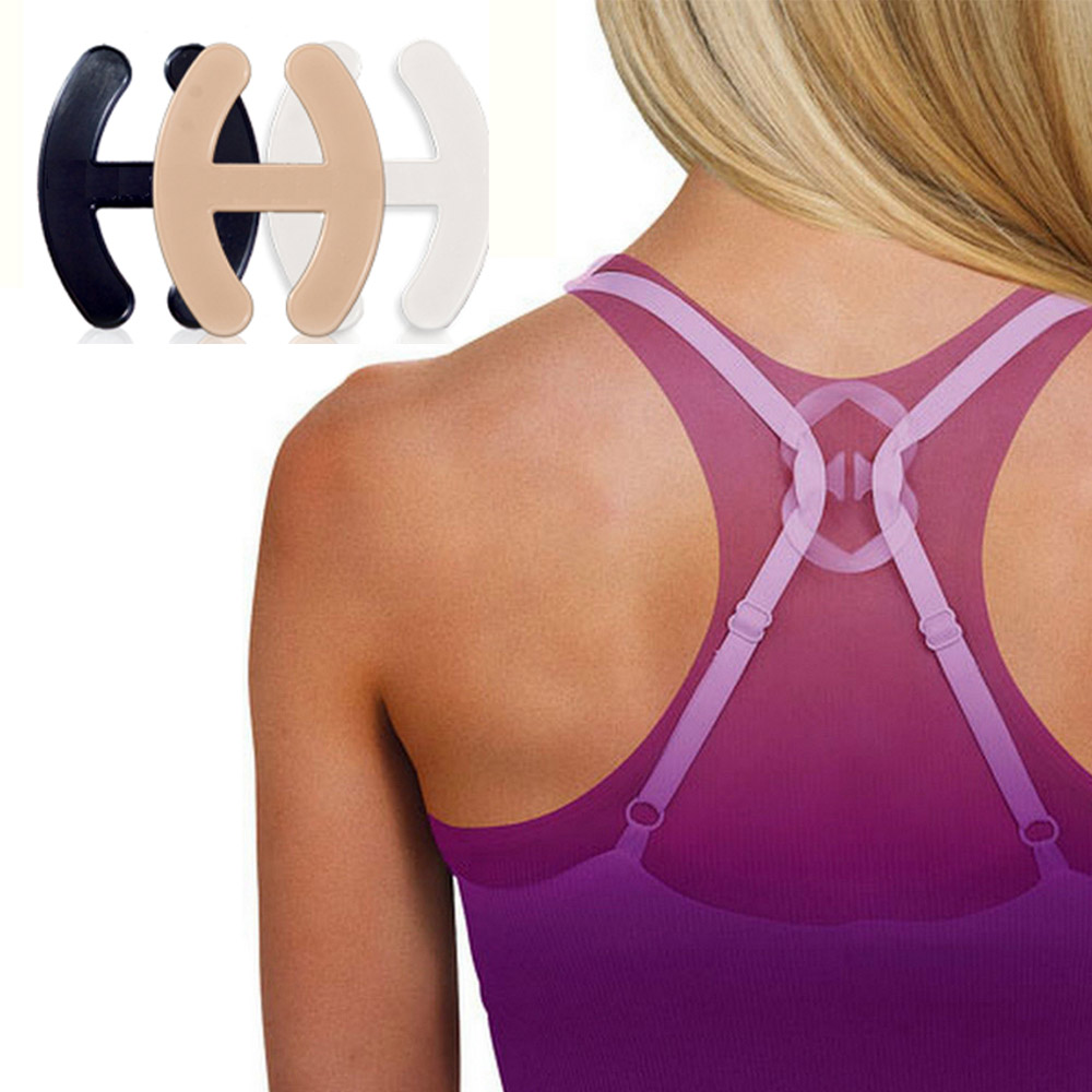 3Pc Bra Clips Perfect Lift Adjust Clasp Strap Cleavage Control Racerback Buckle