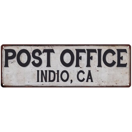 Indio, Ca Post Office Personalized Metal Sign Vintage 6x18 - Party City Indio Ca