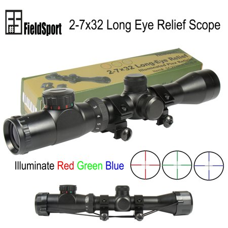 Field Sport 2-7x32 Long Eye Relief Illuminate Red Green Blue Plex