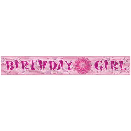12 foil birthday girl banner