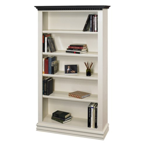 A & E Montecito Two Tone Hand Painted Bookcase - 36W x 72H in.