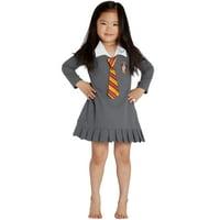 "HARRY POTTER ""Hermione Granger Gryffindor Halloween Toddler Costume Uniform Tie Pajama Gown"