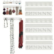 Adhesive Paste Wall Hanging Storage Hooks Jewelry Display Organizer Necklace Hanger