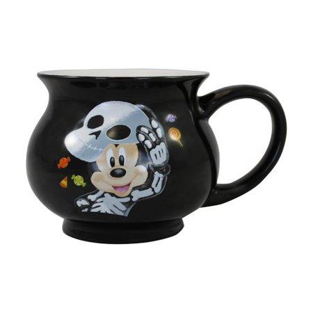 Vandor LLC Disney Mickey Mouse Halloween Cauldron Shaped Coffee Mug (Set of 2)