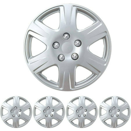 Bdk Hubcaps 15 4 Pieces Silver Toyota Corolla Style Replacement