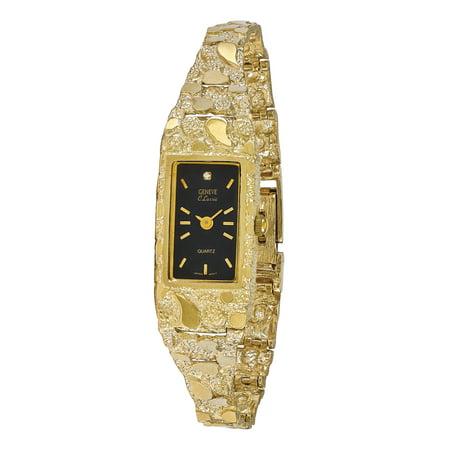 Rectangular Watches (10k Black 15x31mm Dial Rectangular Face Nugget)