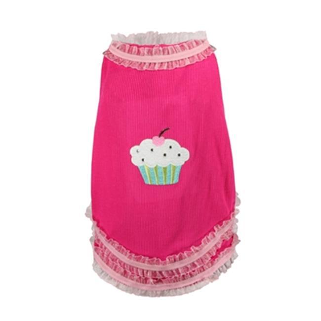 Hip Doggie HD-1PSC-S Small Cupcake Tank - Strawberry
