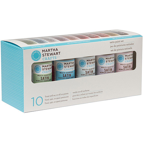 Martha Stewart Satin Acrylic Craft Paint Set, 10 Colors