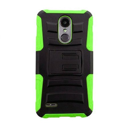 a11e8f9f69 Phone Case for LG Aristo 2 Plus, LG Fortune 2, LG Risio 3, LG K8 2018, LG  Zone 4 (Verizon), LG Tribute Dynasty, LG Aristo 2, Dual Layer Holster Belt  Clip ...