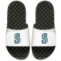 Seattle Mariners ISlide Youth Alternate Logo Slide Sandals - White
