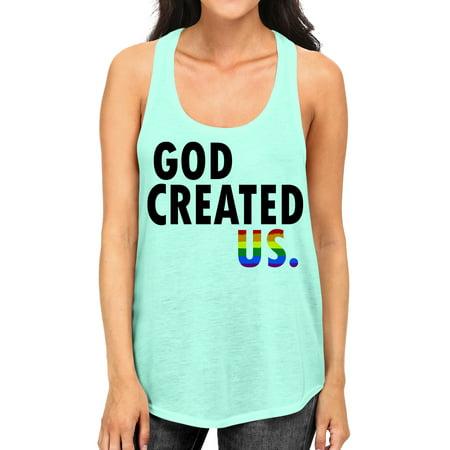 - Junior's God Created US. B1668 PLY Mint Racerback Tank Top Medium Mint