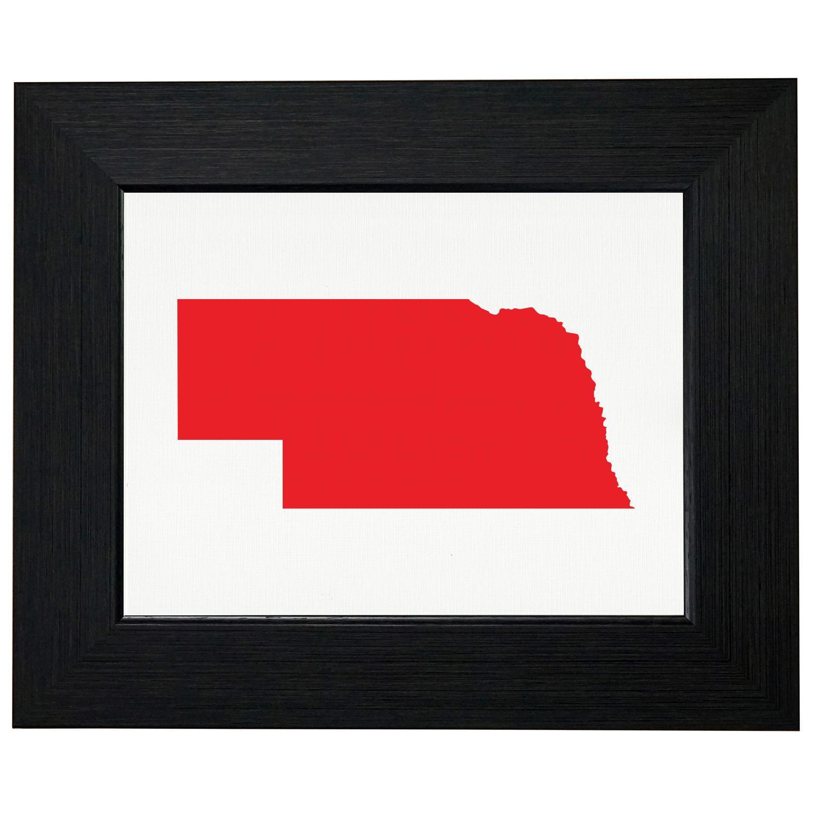 Nebraska Red Republican - Election Silhouette Framed Print Poster Wall or Desk Mount Options