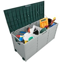 Gymax 70 Gallon Outdoor Patio Deck Storage Box Tool Box Container