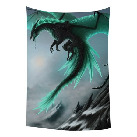 GCKG Flying Dragon Pattern Bedroom Living Room Art Wall Hanging Tapestry Size 40x60 - Dragon Hanging