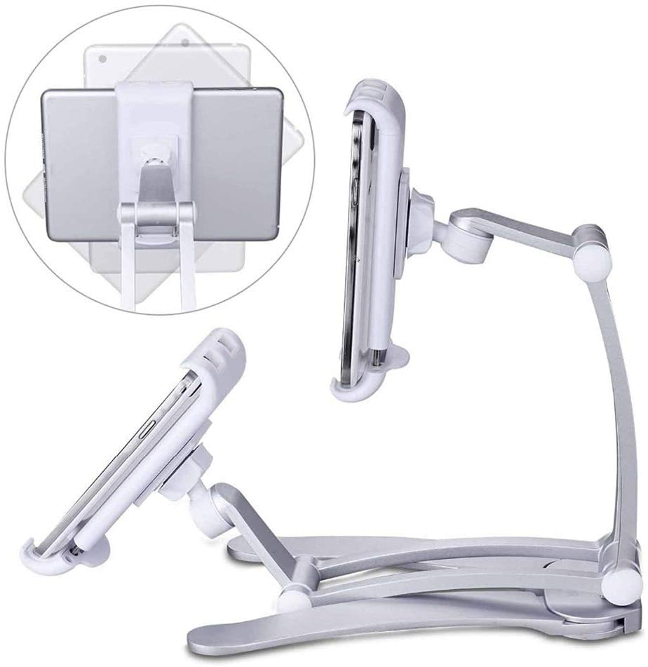 2-in-1 Kitchen Tablet Stand Wall Mount Adjustable Under ...