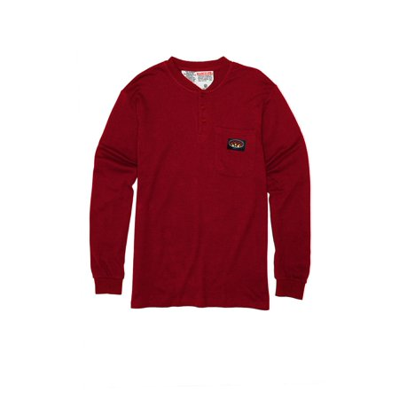 Rasco FR Red Henley T-Shirt 100% Preshrunk Cotton NFPA 2112 for $<!---->