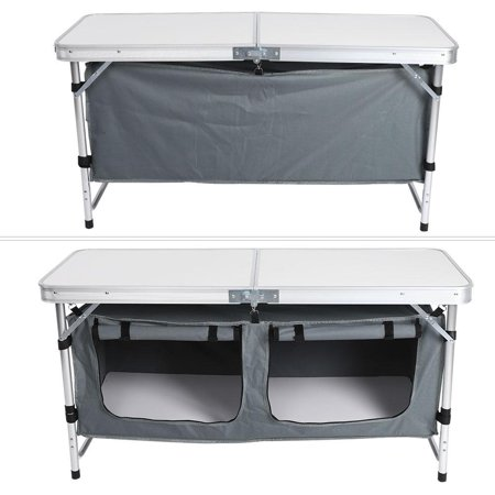 Hilitand Portable Folding Table Aluminum Camping Desk Outdoor Picnic with Storage Pouch, Folding Table, Folding Picnic Table ()