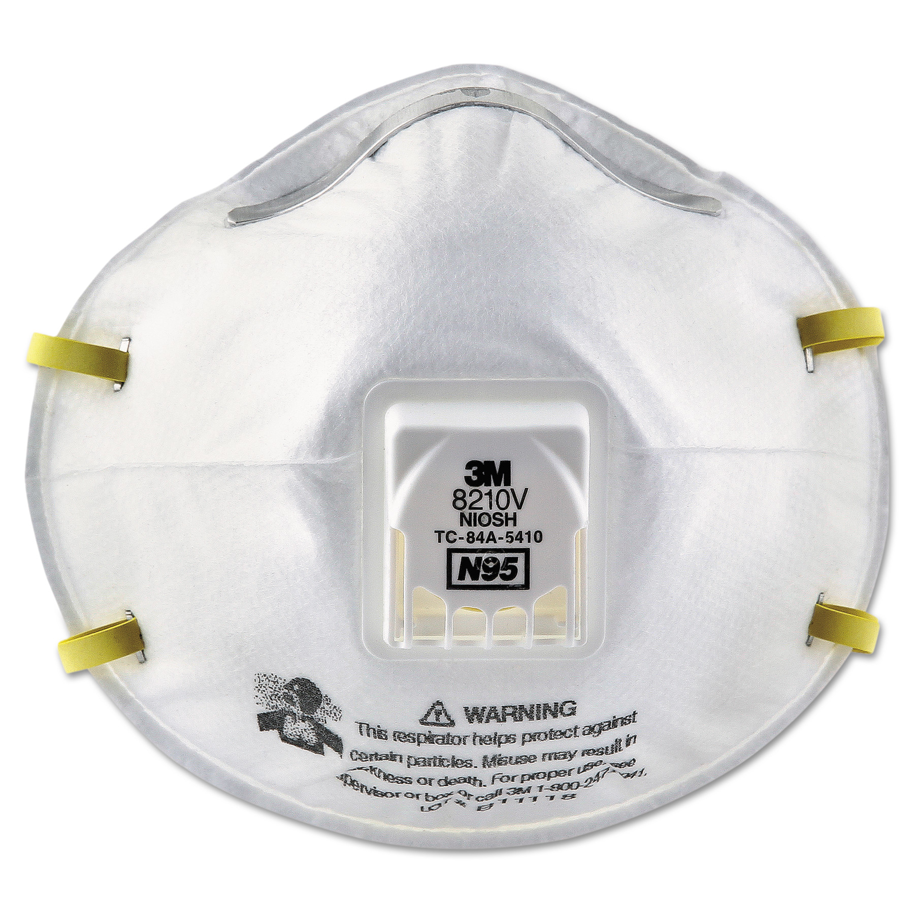 3M Particulate Respirator 8210V, N95, Cool Flow Valve, 80 Box by 3M/COMMERCIAL TAPE DIV.
