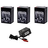 Battery Charger Combo Kit (UPG UB645 6V 4.5AH SLA BATTERY WITH CHARGER COMBO 3)