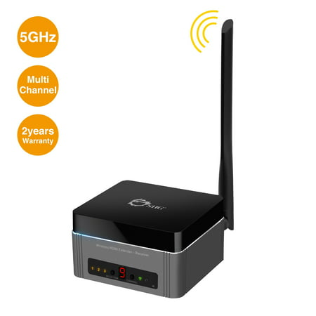 - Full HD Multi-Channel Expandable Wireless HDMI Gateway Extender Receiver, 1080p @60Hz, 5GHz,165ft