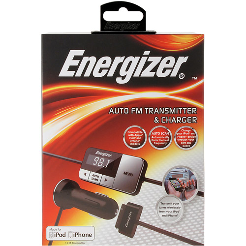 Energizer iPod and iPhone FM Transmitter/Charger