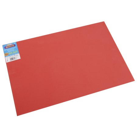 Foam sheet 12 inch x 18 inch 2mm red for Red craft foam sheets
