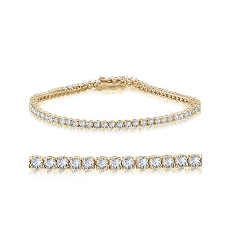 14K Yellow Gold 2 ct Diamond Tennis Bracelet 7
