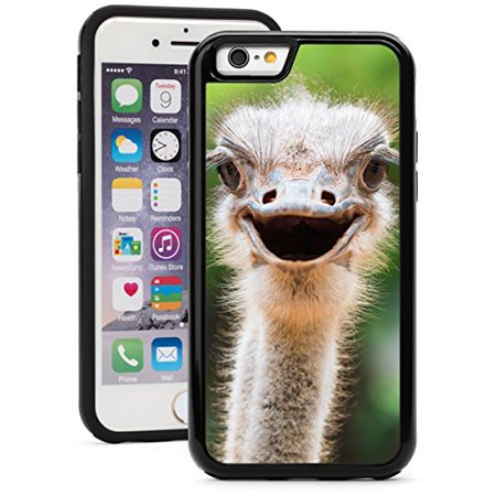 For Apple iPhone Shockproof Impact Hard Soft Case Cover Ostrich Head (Black for iPhone 6/6s) (Black Ostrich)