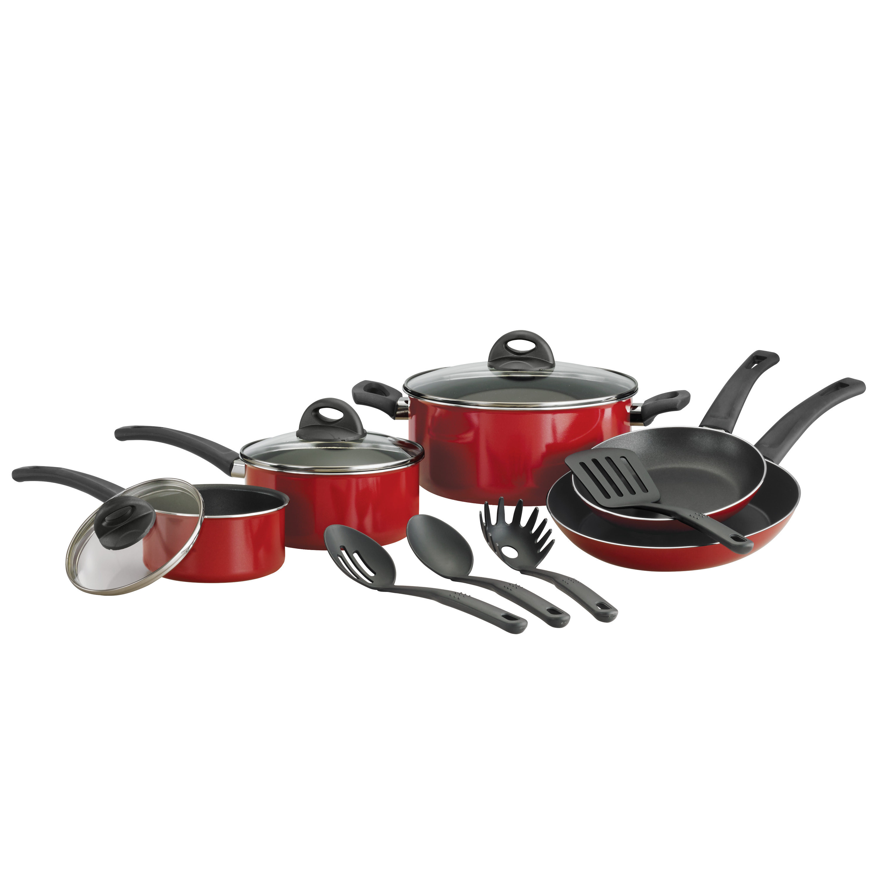 Tramontina 12-Piece Everyday Nonstick Cookware Set, Red