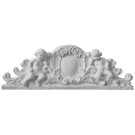 Ekena Millwork APL28X09X02SC 28.50 in. W x 9.62 in. H x 2.75 in. P Architectural Accents With Scroll Angel Center Scrolls - image 1 de 1
