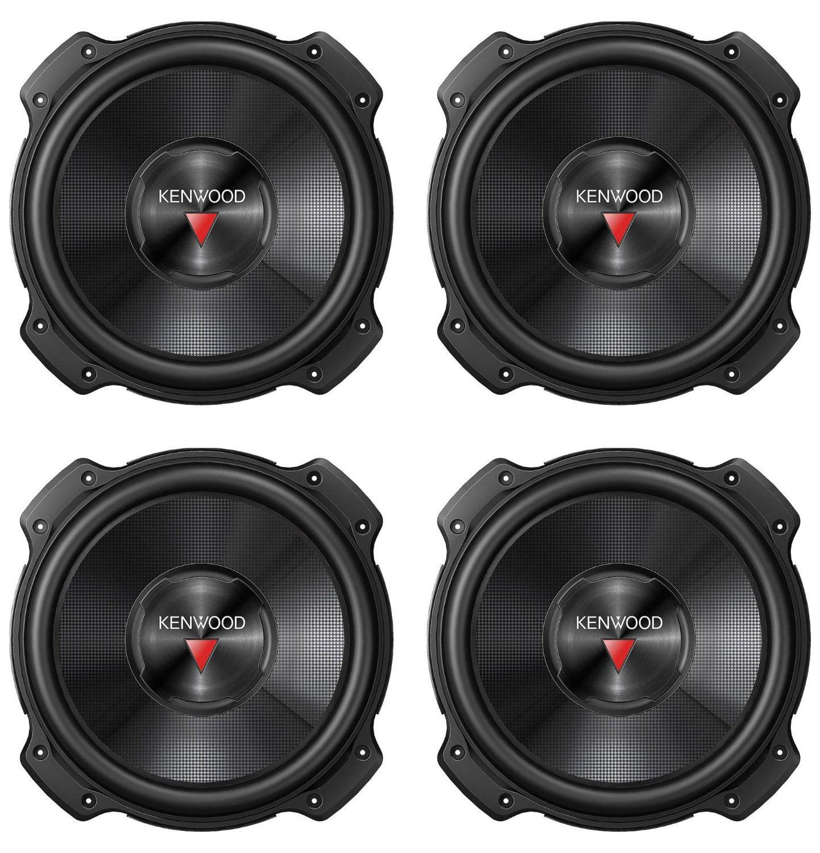 "4) Kenwood KFC-W2516PS 10"" 5200 WATT Car Audio Subwoofer Sub Power Woofer 4 Ohm"