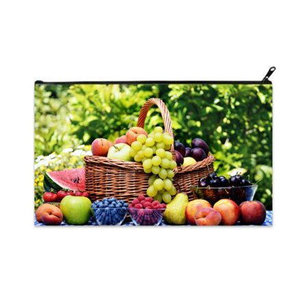(POPCreation Good Harvest Fruit Grape School Pencil Case Pencil Bag Zipper Organizer Bag)