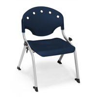 "OFM Rico Series Model 305 12""H Armless Stack Chair, Navy"
