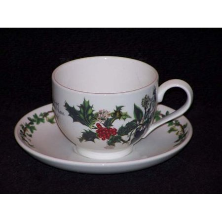 Holly & Ivy Tea Cup and Saucer (64820), From an informal yuletide get-together to Christmas dinner itself, these beautiful pieces can be used through.., By Portmeirion ()