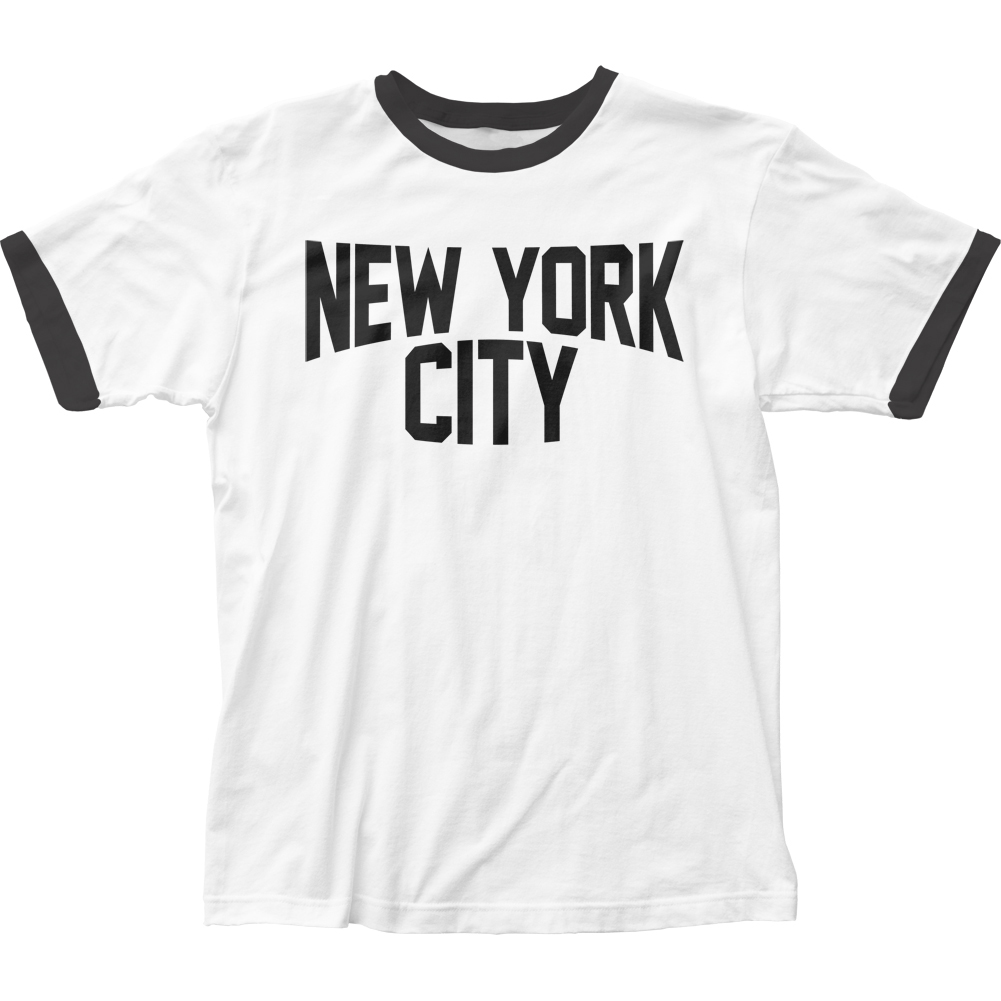 Impact Originals New York City Adult Fitted Ringer Jersey T-Shirt Tee