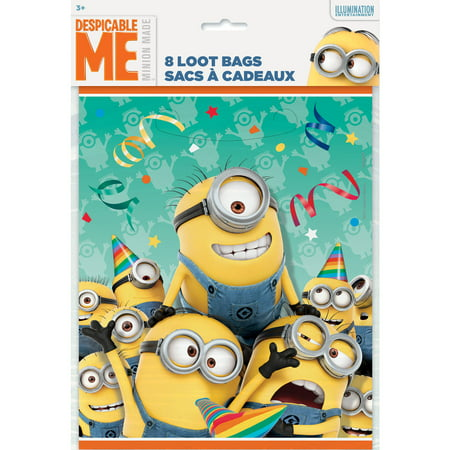 Despicable Me Minions Favor Bags, 8ct](Despicable Me Treat Bags)