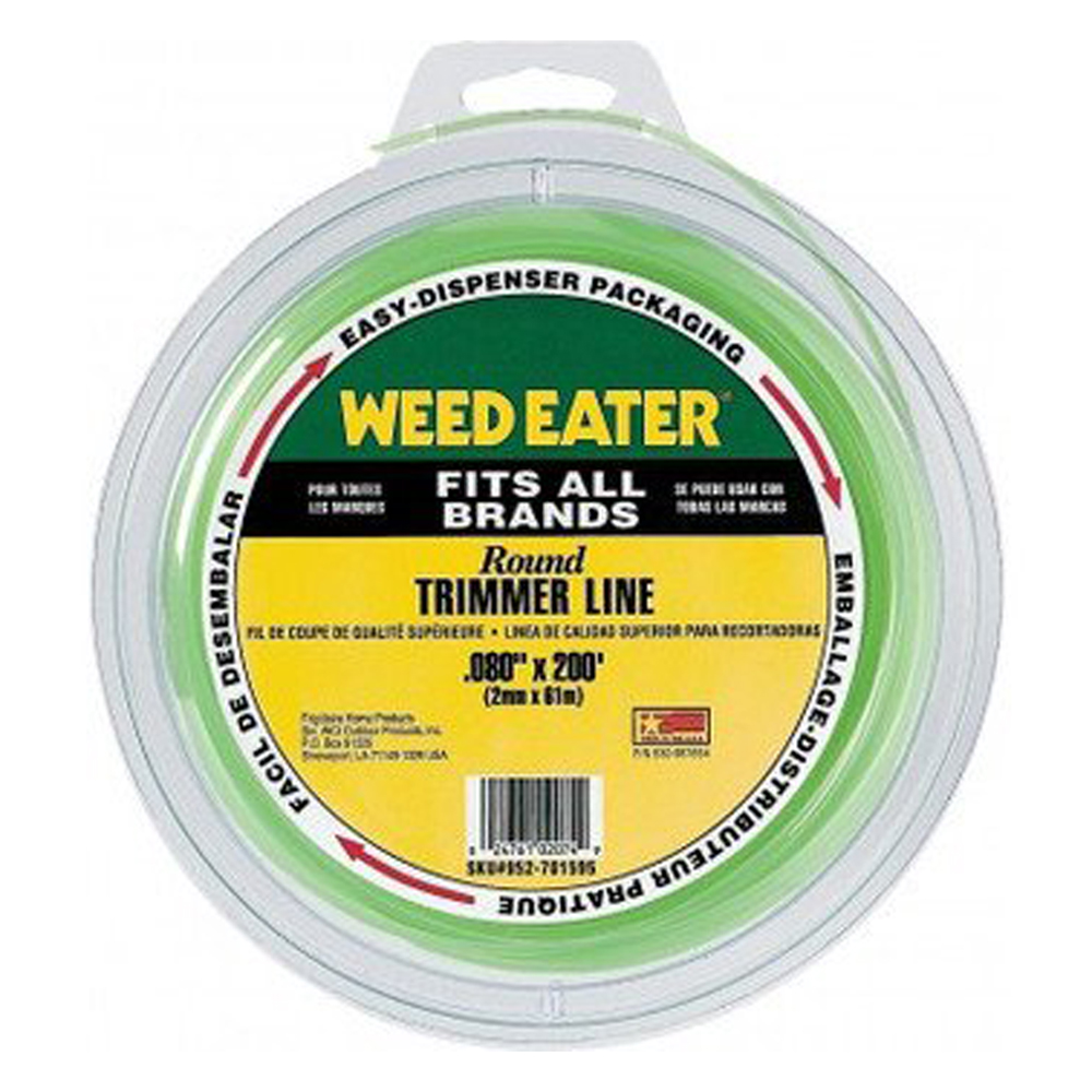 "Weed Eater Trimmer Replacement .080"" x 200' Round Trimmer Line # 952701595"