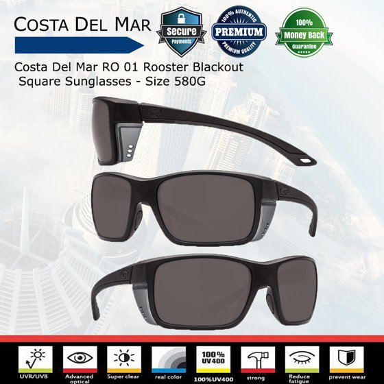 340651fb95 Costa Del Mar - Costa Del Mar Rooster Blackout Square Sunglasses ...